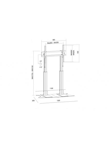Multibrackets M Motorized Display Stand Dual Pillar Floorbase Black Multibrackets 7350073736072 - 8