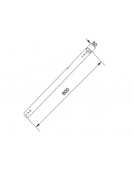 Multibrackets M Pro Series - Extension Pipe 0.8m White Multibrackets 7350073736140 - 2
