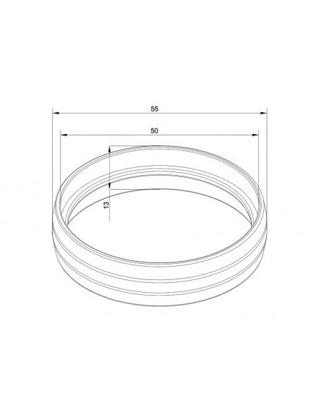 Multibrackets M Pro Series - External Pipe Cover White Multibrackets 7350073736201 - 2