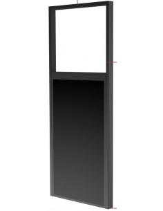 "Peerless DS-OM55ND-FLOOR signage display mount 139.7 cm (55"") Black Peerless DS-OM55ND-FLOOR - 1"