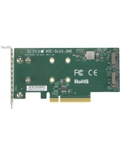 Supermicro AOC-SLG3-2M2 interface cards/adapter Internal M.2 Supermicro AOC-SLG3-2M2-O - 1