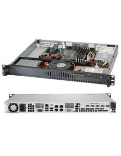 Supermicro SuperServer 5018A-MLTN4 Rack (1U) Black, Silver Supermicro SYS-5018A-MLTN4 - 1