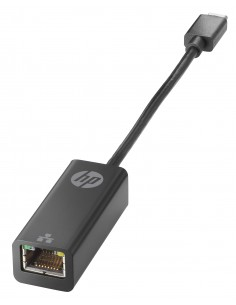 HP USB-C to RJ45 Adapter Musta Hp V7W66AA - 1