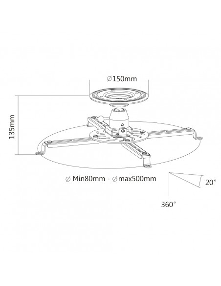 Newstar projector ceiling mount Newstar NM-BC25BLACK - 8
