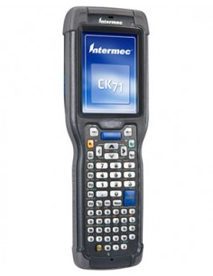 "Intermec CK71 mobiilitietokone 8.89 cm (3.5"") 480 x 640 pikseliä Kosketusnäyttö 584 g Musta Intermec CK71AA2MC00W4100 - 1"