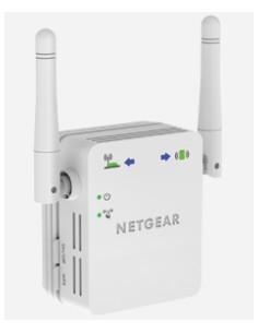 Netgear N300 WiFi Range Extender Nätverkssändare och -mottagare Vit 10. 100. 300 Mbit/s Netgear WN3000RP-200PES - 1