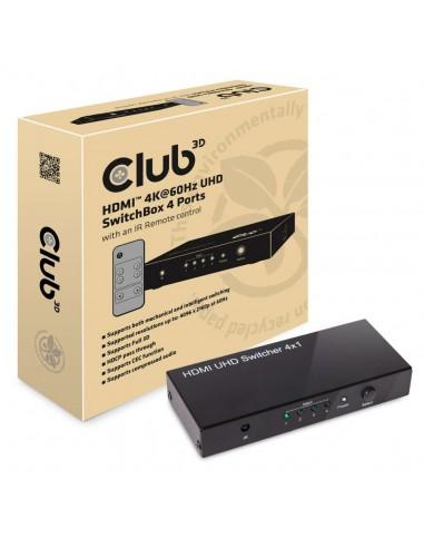 CLUB3D HDMI 2.0 UHD SwitchBox 4 Ports Club 3d CSV-1370 - 1