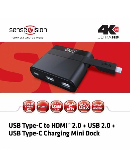 CLUB3D USB Type-C to HDMI™ 2.0 + Charging Mini Dock Club 3d CSV-1534 - 2