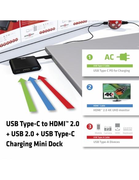 CLUB3D USB Type-C to HDMI™ 2.0 + Charging Mini Dock Club 3d CSV-1534 - 3