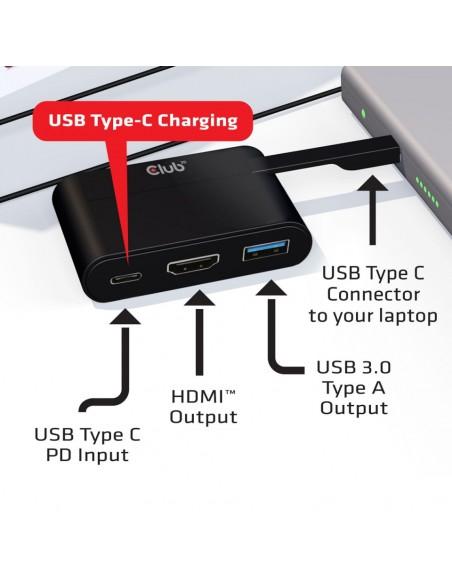 CLUB3D USB Type-C to HDMI™ 2.0 + Charging Mini Dock Club 3d CSV-1534 - 4