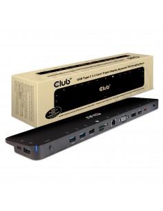 CLUB3D USB TC3.2 Gen 1 Trip dyn PD C60W-100W Dockning 3.2 (3.1 1) Type-C Svart Club 3d CSV-1564 - 1
