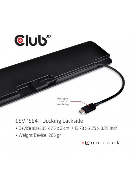 CLUB3D USB TC3.2 Gen 1 Trip dyn PD C60W-100W Telakointi 3.2 (3.1 1) Type-C Musta Club 3d CSV-1564 - 6