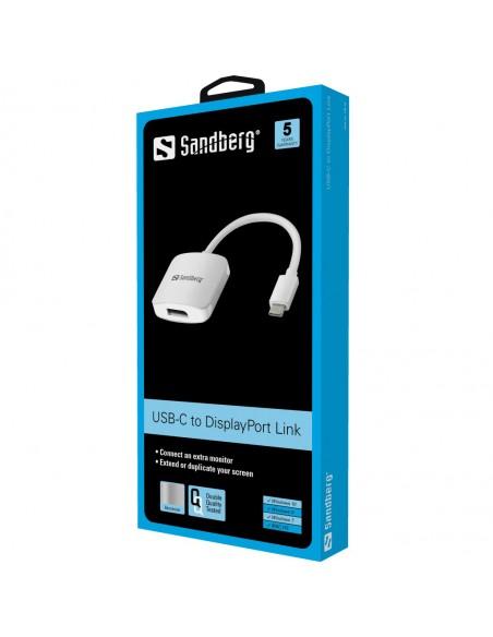 Sandberg USB-C to DisplayPort Link USB Type-C Grå Sandberg 136-19 - 2