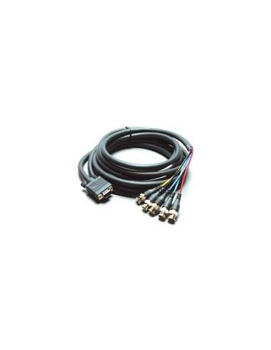 Kramer Electronics Molded 15-pin HD to 5 BNC Breakout Cable(Male - Male ) 3.05 m Harmaa Kramer 92-5105010 - 1