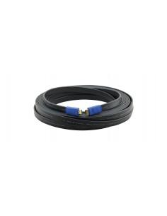 Kramer Electronics C-HM/HM/FLAT/ETH-6 HDMI-kaapeli 1.8 m HDMI-tyyppi A (vakio) Musta Kramer 97-01014006 - 1