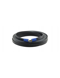 Kramer Electronics C-HM/HM/FLAT/ETH-10 HDMI-kaapeli 3 m HDMI-tyyppi A (vakio) Musta Kramer 97-01014010 - 1