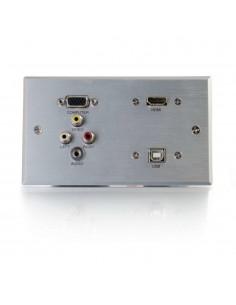 C2G 87120 pistorasia VGA + 3.5 mm USB 2.0 3x RCA Alumiini C2g 87120 - 1