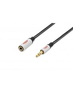 Ednet 84541 audio cable 3 m 3.5mm Black, Silver Assmann 84541 - 1