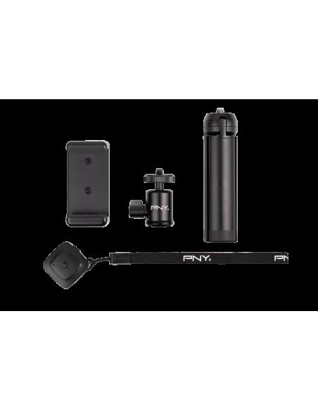 PNY P-T-BTRI001K-RB kolmijalka Älypuhelin/toimintakamera 3 jalkoja Musta Pny P-T-BTRI001K-RB - 4