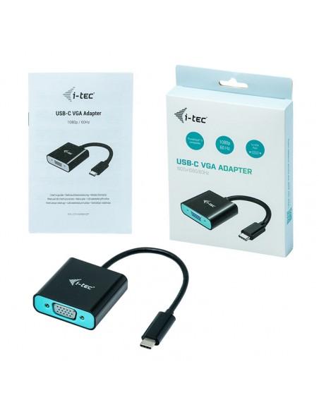 i-tec C31VGA60HZP videokaapeli-adapteri 0.15 m USB Type-C VGA (D-Sub) Musta, Turkoosi I-tec Accessories C31VGA60HZP - 4