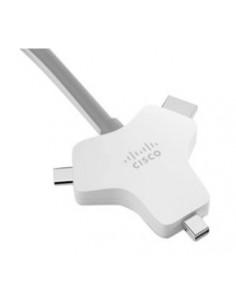 Cisco CAB-HDMI-MUL4K-9M= video cable adapter HDMI Type A (Standard) + Mini DisplayPort USB Type-C Silver Cisco CAB-HDMI-MUL4K-9M
