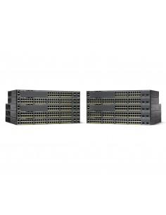 Cisco Catalyst WS-C2960X-48LPD-L verkkokytkin Hallittu L2 Gigabit Ethernet (10/100/1000) Power over -tuki Musta Cisco WS-C2960X-