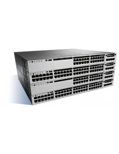 Cisco Catalyst WS-C3850-24XU-S nätverksswitchar hanterad 10G Ethernet (100/1000/10000) Svart, Grå Cisco WS-C3850-24XU-S - 1
