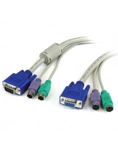 StarTech.com 6 ft. PC99 3-in-1 Keyboard, Monitor, Mouse Extension Cable KVM-kaapeli Beige 1.83 m Startech 3N1PS2EXT6 - 1