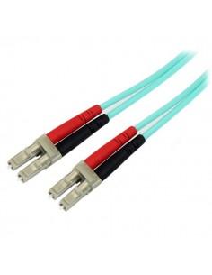 StarTech.com A50FBLCLC5 valokuitukaapeli 5 m LC OM3 Turkoosi Startech A50FBLCLC5 - 1