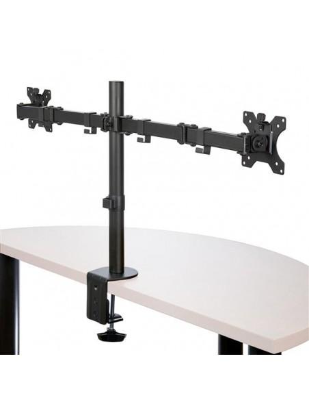 StarTech.com Skrivbordsmonterad arm för dubbelskärm - Tvärstång Ledad Stål Startech ARMDUAL2 - 2
