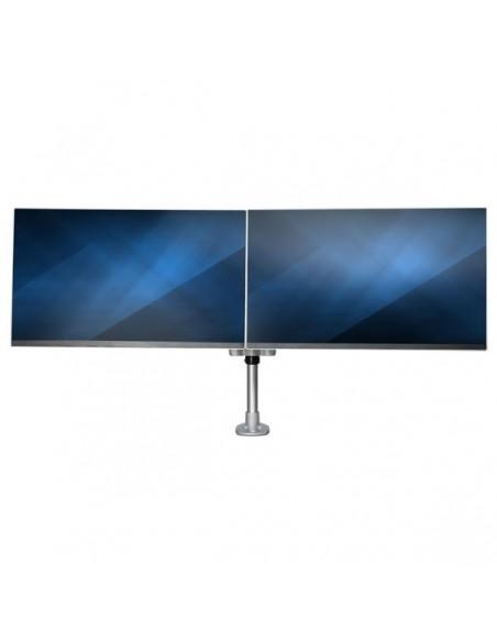"StarTech.com ARMDUALPS monitorin kiinnike ja jalusta 68.6 cm (27"") Puristin Hopea Startech ARMDUALPS - 12"