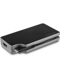 StarTech.com USB C Multiport Video Adapter - 4K 60Hz UHD Portable 5-in-1 Type to HDMI 2.0, Mini DisplayPort Startech CDPVDHMDPDP