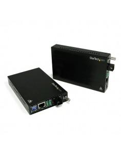 StarTech.com ET90110WDM2 mediakonverterare för nätverk 200 Mbit/s 1310 nm Enkelläge Svart Startech ET90110WDM2 - 1