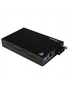 StarTech.com Gigabit Ethernet Multi Mode Fiber Media Converter SC 550m - 1000 Mbps Startech ET91000SC2 - 1