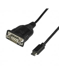 StarTech.com ICUSB232C sarjakaapeli Musta 0.4 m USB C DB-9 Startech ICUSB232C - 1
