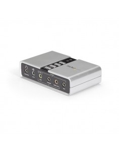 StarTech.com 7.1 USB Audio Adapter External Sound Card with SPDIF Digital Startech ICUSBAUDIO7D - 1