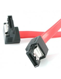 StarTech.com 12in Latching SATA to Right Angle Serial ATA Cable Startech LSATA12RA1 - 1