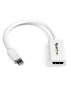 StarTech.com Mini DisplayPort to HDMI 4K Audio / Video Converter – mDP 1.2 Active Adapter for Mac Book Pro Air @ 30 Hz - White S