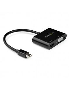 StarTech.com MDP2VGAHD20 videokaapeli-adapteri Mini DisplayPort HDMI + VGA (D-Sub) Musta Startech MDP2VGAHD20 - 1