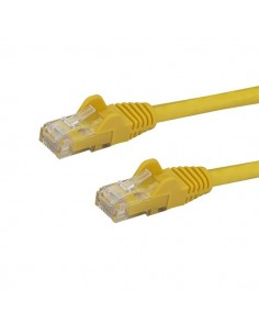 StarTech.com 100ft CAT6 Ethernet Cable - Yellow CAT 6 Gigabit Wire -650MHz 100W PoE RJ45 UTP Network/Patch Cord Snagless Startec