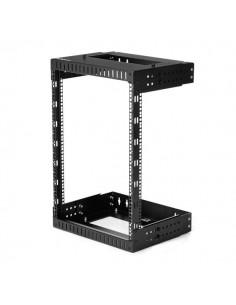 "StarTech.com 15U 19"" Wall Mount Network Rack - Adjustable Depth 12-20"" 2 Post Open Frame Server Room for AV/Data/ IT Startech RK"