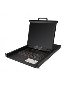 """StarTech.com RKCONS1908K rack console 48.3 cm (19"""") 1280 x 1024 pixels Black 1U Startech RKCONS1908K - 1"""