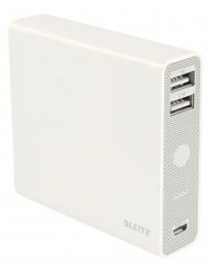 Leitz Complete USB 12000 power bank Lithium-Ion (Li-Ion) mAh White Kensington 65280001 - 1