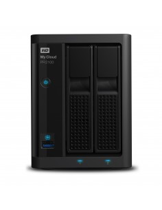 Western Digital My Cloud PR2100 NAS Työpöytä Ethernet LAN Musta N3710 Western Digital WDBBCL0160JBK-EESN - 1