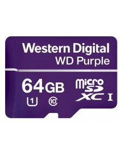 Western Digital Purple flash-muisti 64 GB MicroSDXC Luokka 10 Western Digital WDD064G1P0A - 1