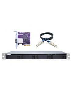 """QNAP TL-R400S tallennusaseman kotelo HDD-/SSD-kotelo Musta, Harmaa 2.5/3.5"""" Qnap TL-R400S - 1"""