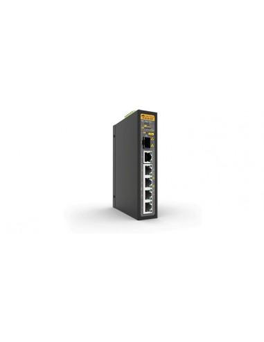 Allied Telesis IS130-6GP Ohanterad L2 Gigabit Ethernet (10/100/1000) Strömförsörjning via (PoE) stöd Svart Allied Telesis AT-IS1