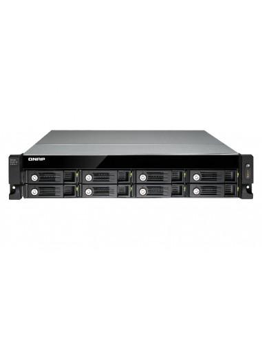 QNAP UX-800U-RP levyjärjestelmä Musta Qnap UX-800U-RP - 1