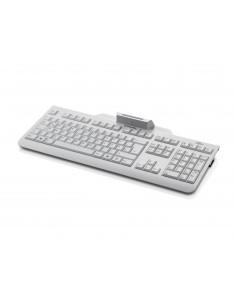 Fujitsu KB100 SCR tangentbord USB QWERTY Nordic Marmorfärgad Fujitsu Technology Solutions S26381-K100-L154 - 1