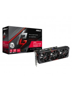 Asrock RX5600XT PGD3 6GO AMD Radeon RX 5600 XT 6 GB GDDR6 Asrock 90-GA1VZZ-00UANF - 1